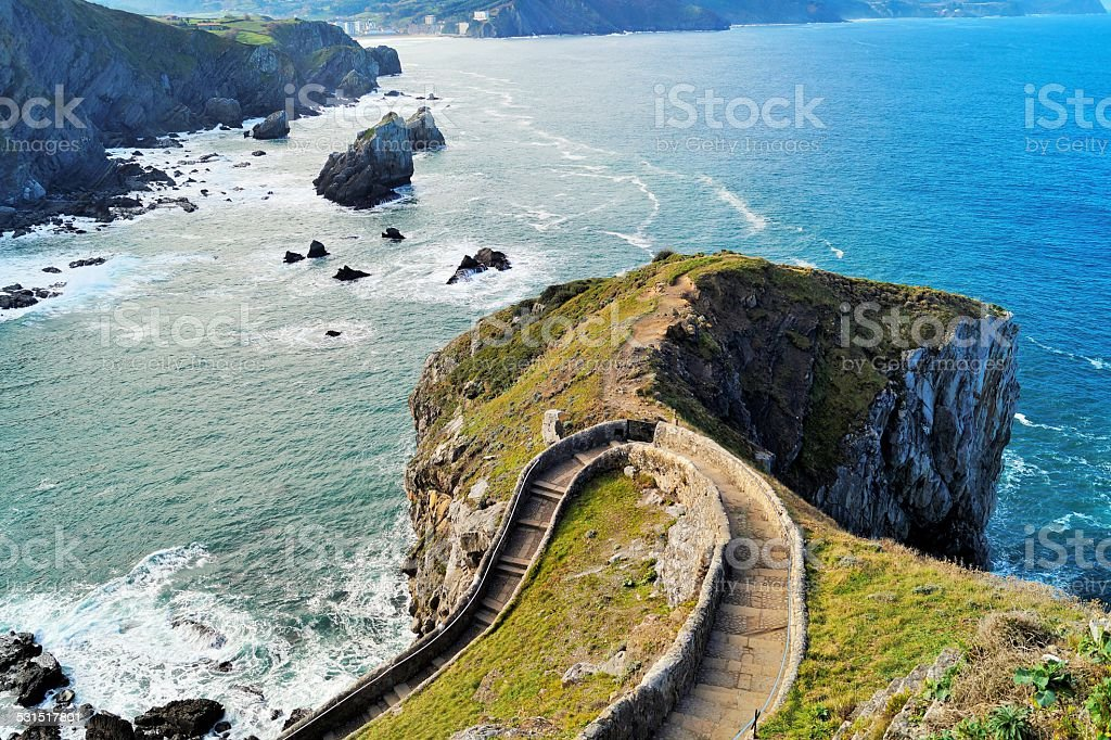 Isle of Bermeo, Pais Vasco, Spain. stock photo