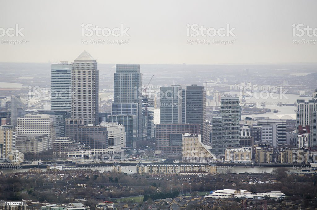 Isle of Dogs, Aerial View royalty-free stock photo
