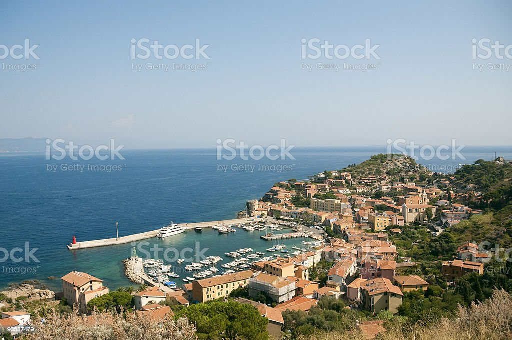 Isle of Giglio in Tuscany stock photo