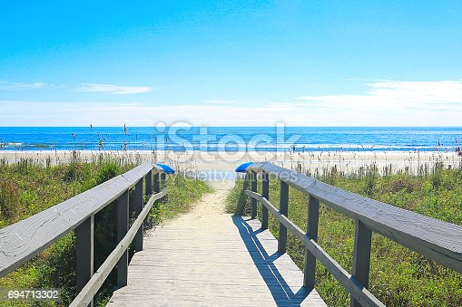 beautiful beach and boardwalk