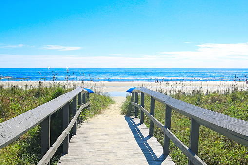 beautiful beach and boardwalk