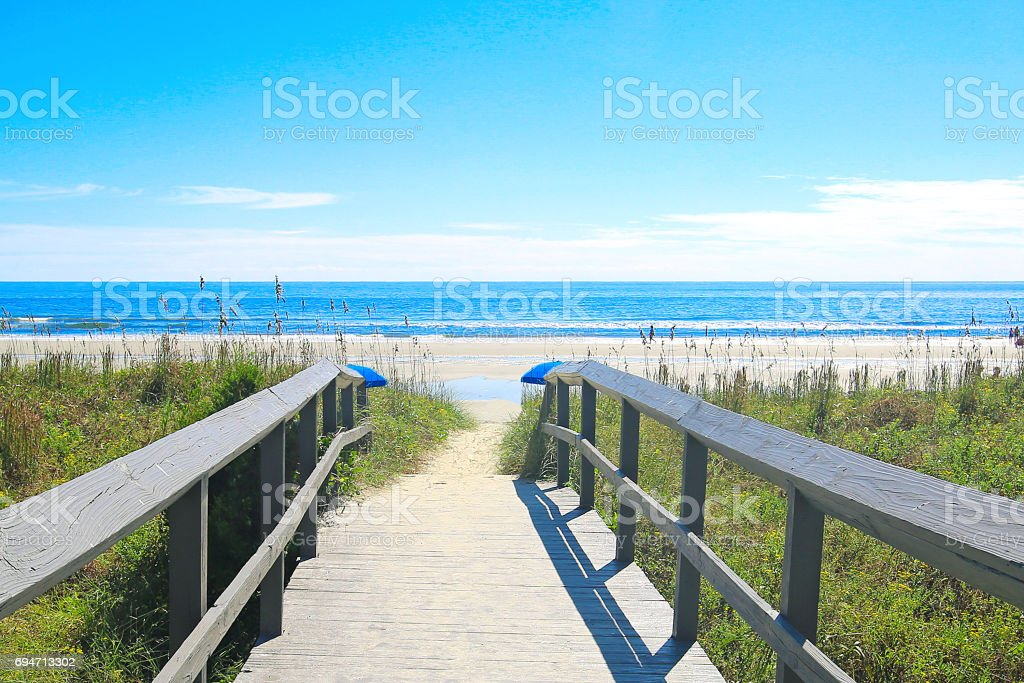 Isle of Palms South Carolina Beach stock photo