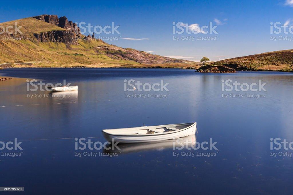 Isle of Skye in Scotland stock photo