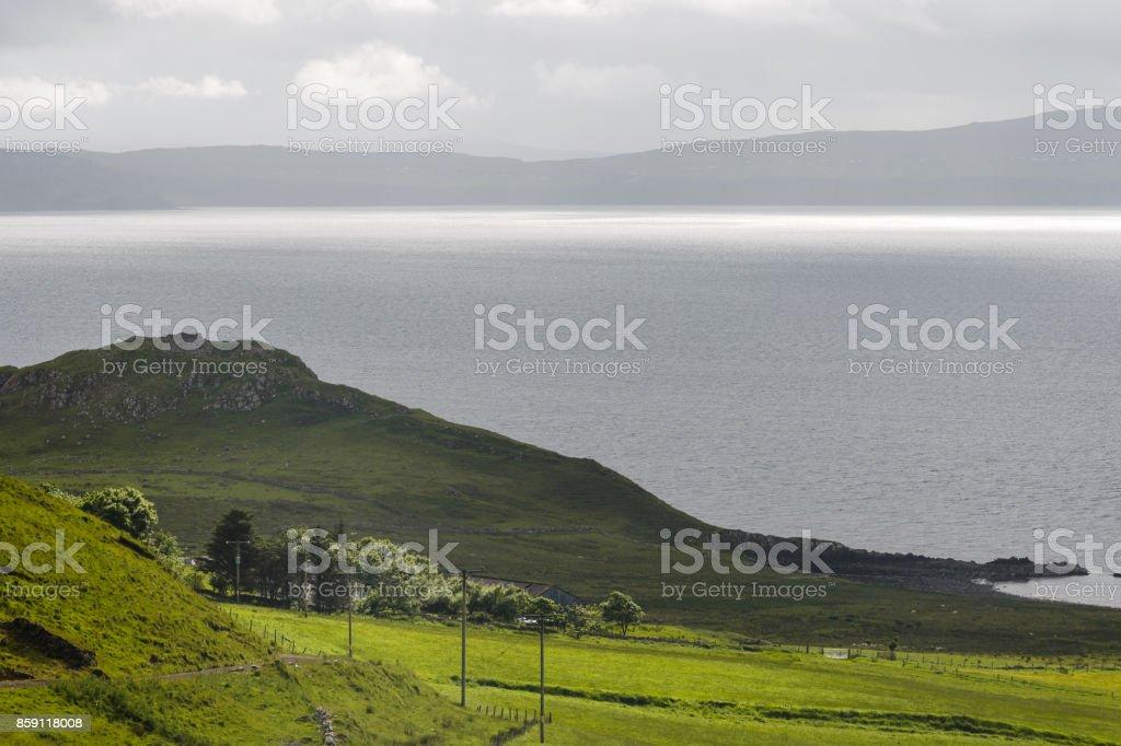 isle of skye landscapes stock photo