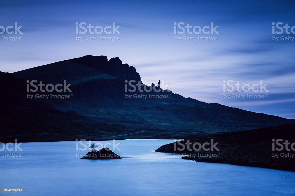 Isle of Skye loch fada stock photo