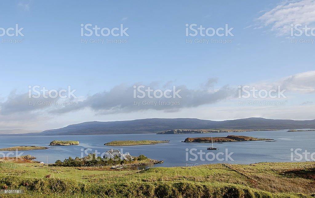 Isle Of Skye Niest Point Farmhouse View stock photo