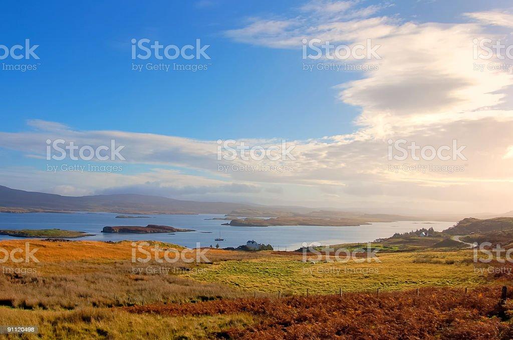 Isle Of Skye Niest Point Road View stock photo