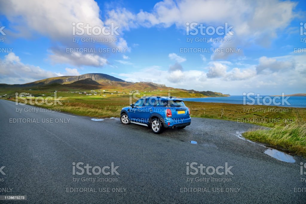 Isle of Skye on the road stock photo
