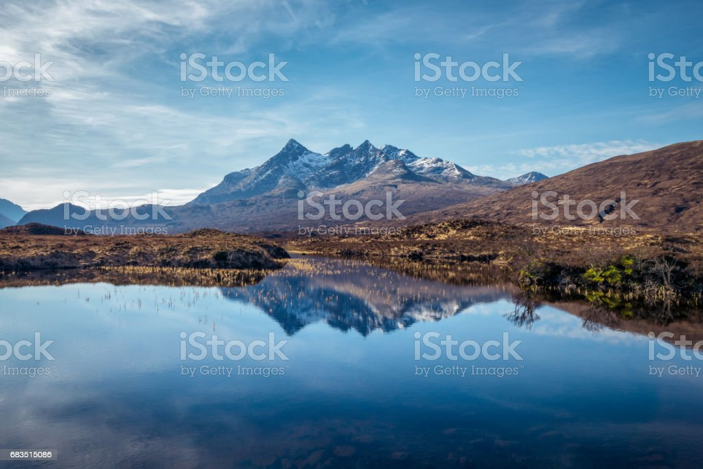 Isle of Skye, Scotland, UK. View over The Cuillin mountains stock photo