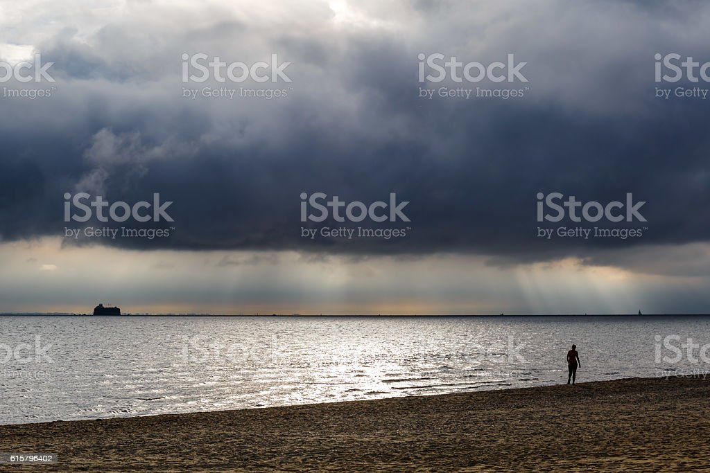 Isle of Wight in summer stock photo
