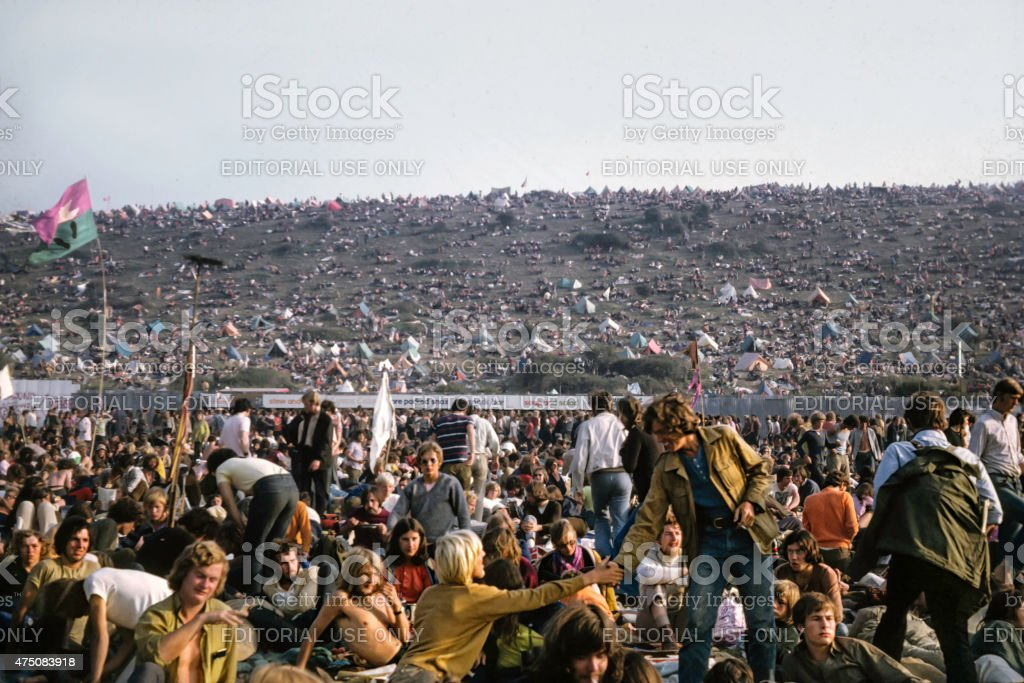 Isle of Wight Music Festival, 1970 stock photo