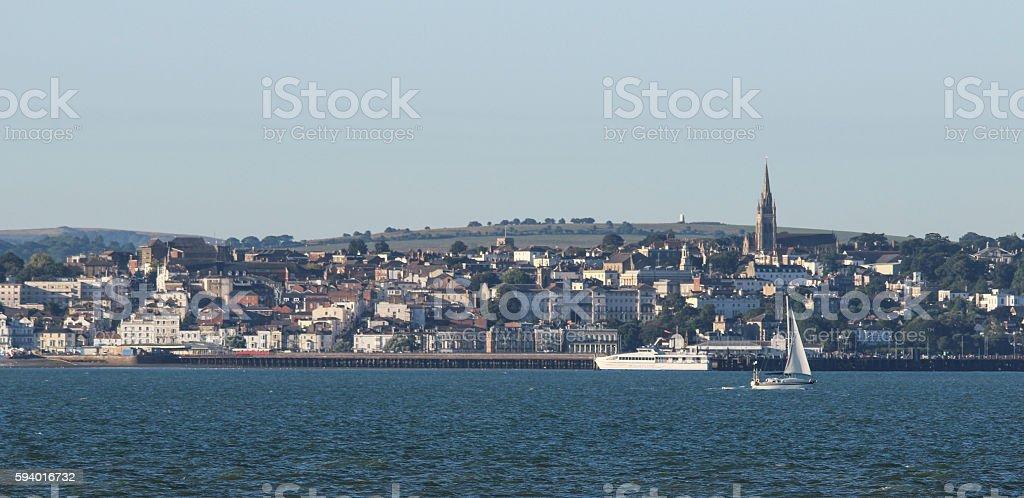 Isle of Wight taken from Gosport stock photo