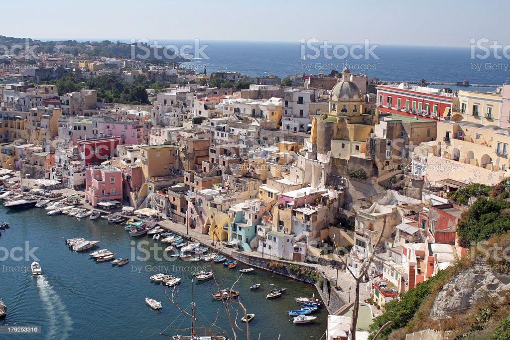 isle procida, gulf of naples, campania, italy royalty-free stock photo