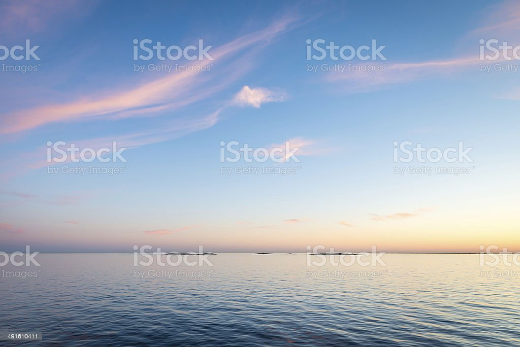 Islets in Stockholm Archipelago stock photo