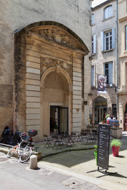 Isly Gate in Montpellier stock photo