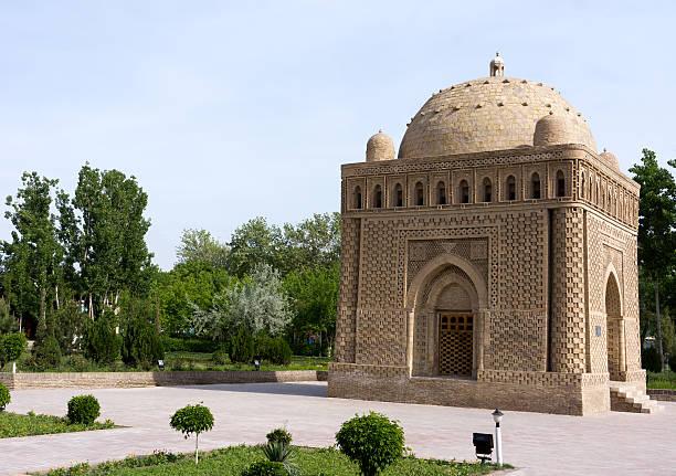 ismail samani mausoleum, - mausoleum stockfoto's en -beelden