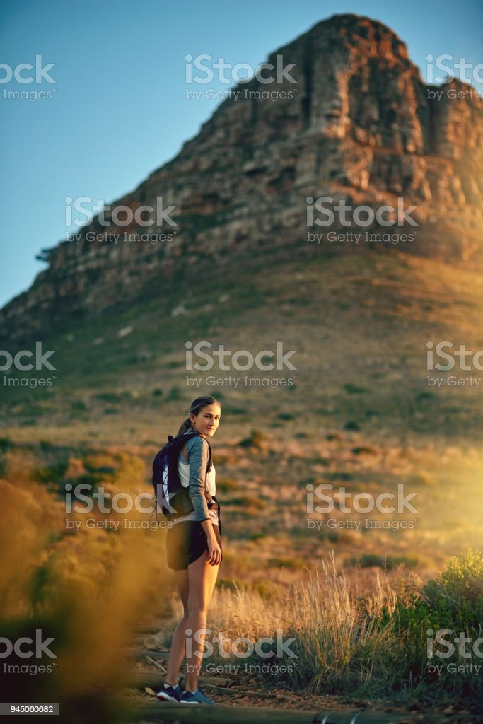 Isn't it simply breathtaking out here? stock photo