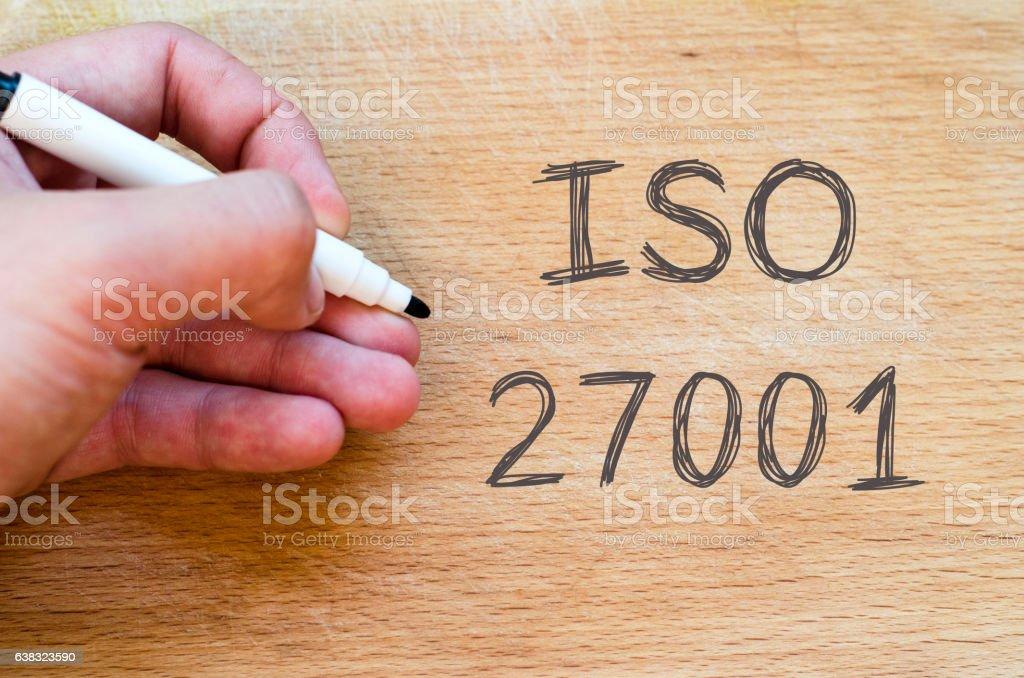 Iso 27001 text concept stock photo