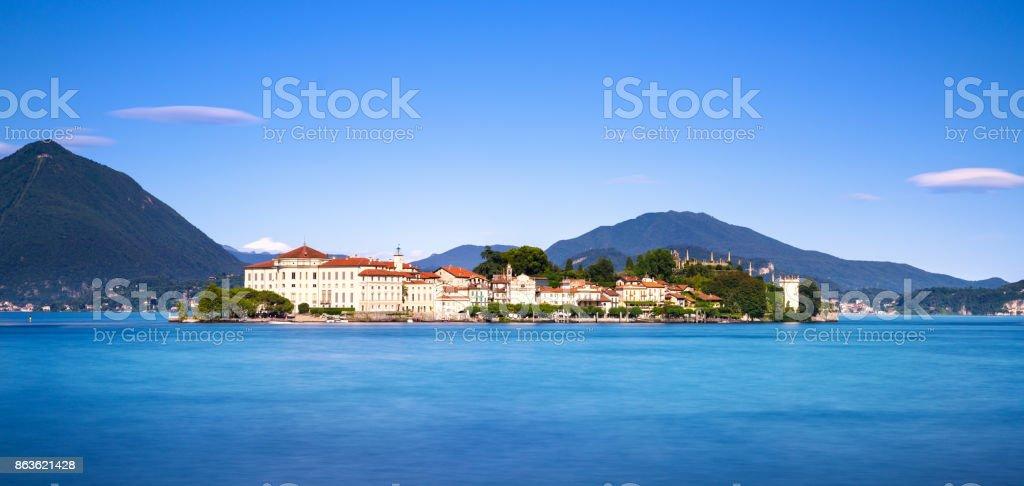 Isola Bella island in Maggiore lake, Borromean Islands, Stresa Piedmont Italy stock photo