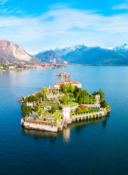 ilha bella, lago maggiore - lombardia - fotografias e filmes do acervo