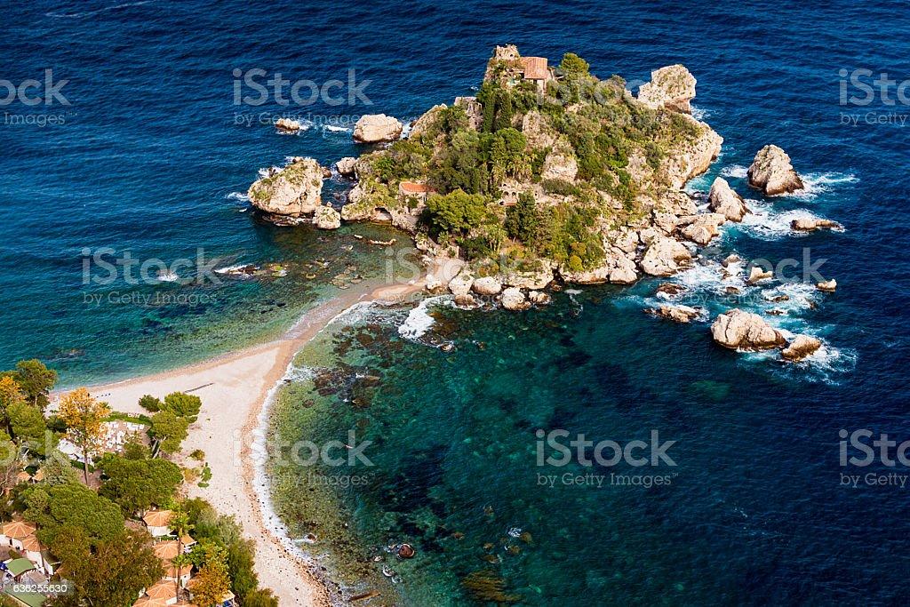 Isola Bella - Taormina, Sicily stock photo