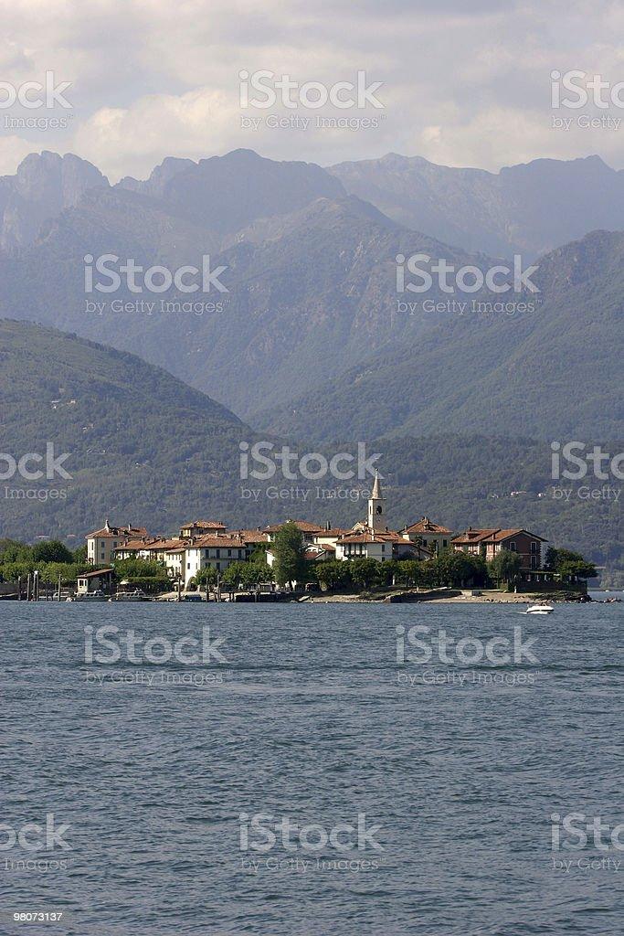 Isola dei Pescatori, Lake Maggiore royalty-free stock photo