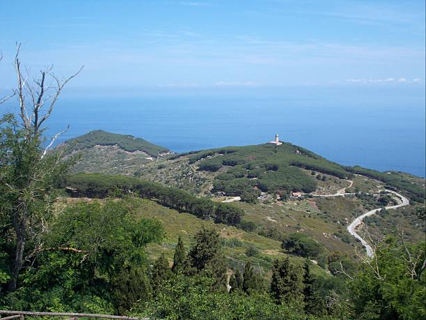 isola del giglio - panorama stock photo
