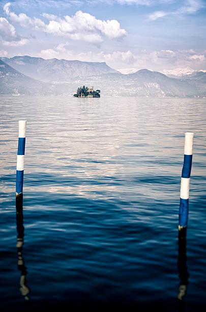 Isola di Loreto, on Lake Iseo, Lombardy, Italy foto