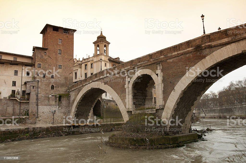 Isola Tiberina, Rome stock photo