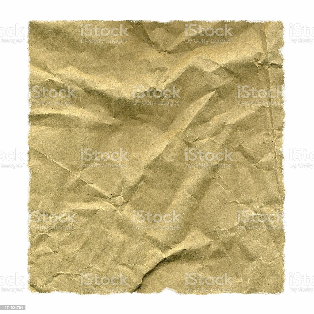 Isolate Brown Paper Bag royalty-free stock photo