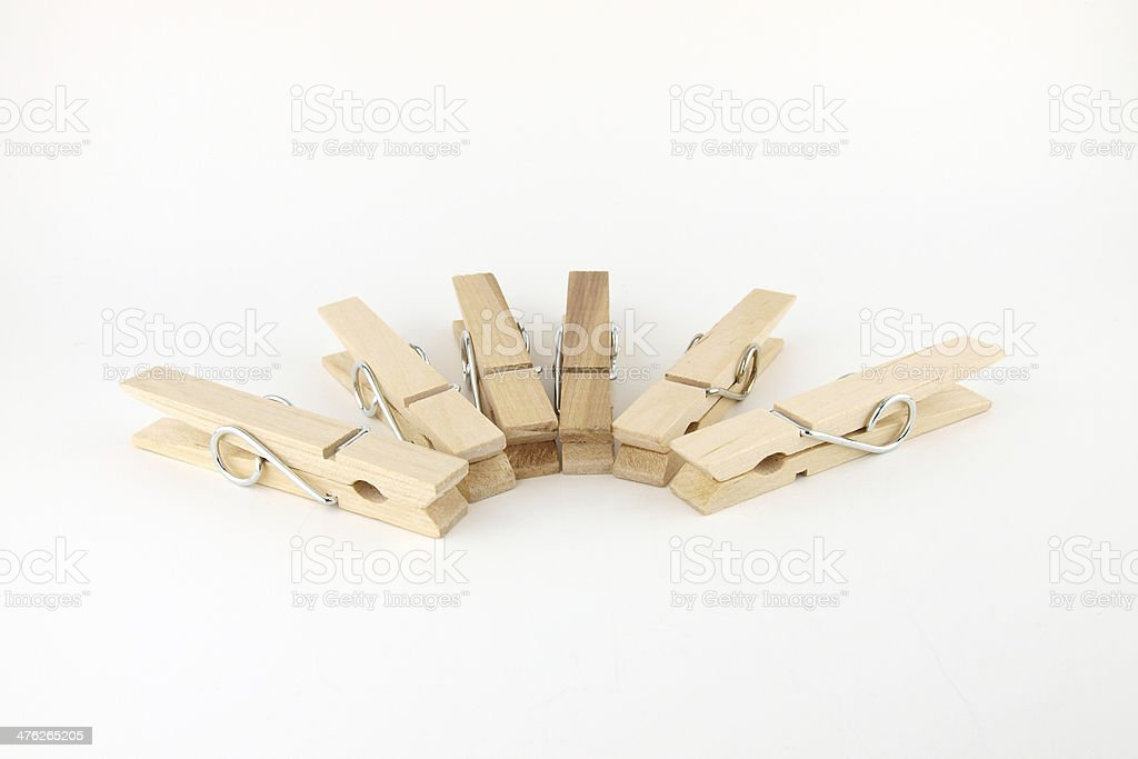 Isolate cloth pegs stock photo