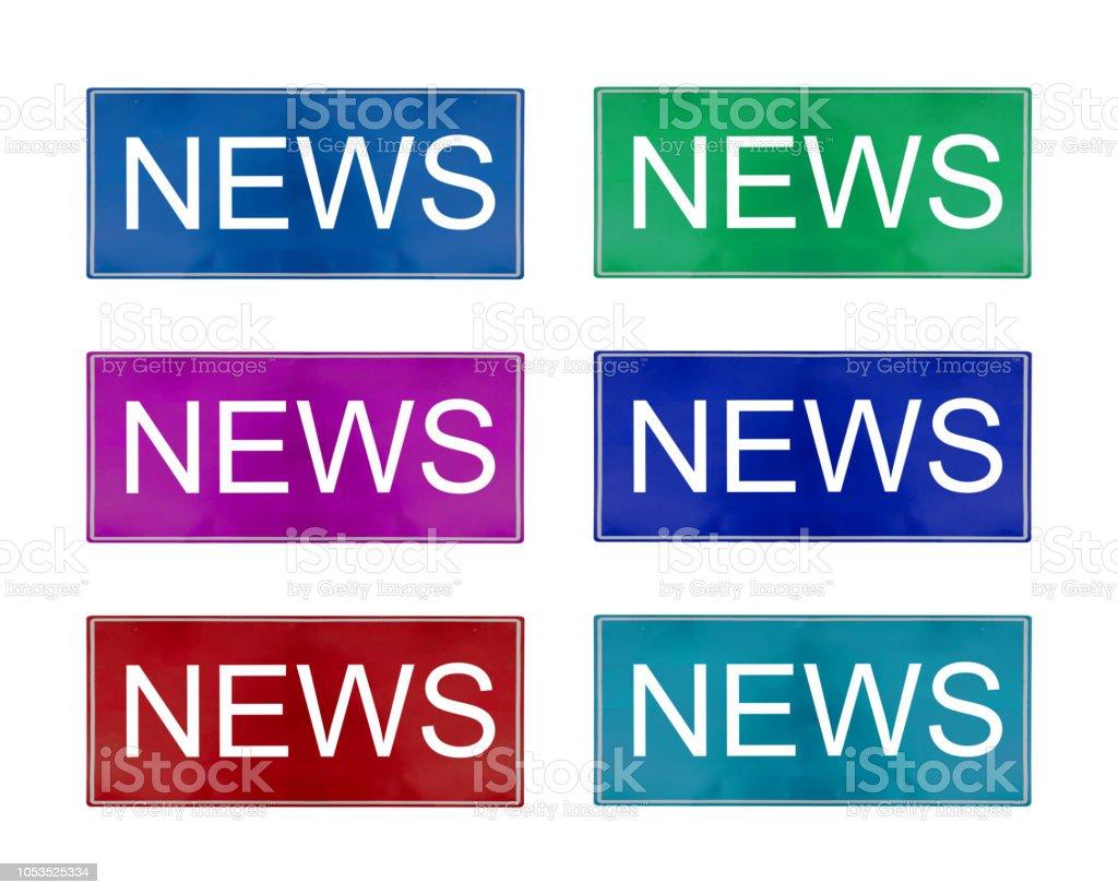 Isolate News Logo on White Background stock photo