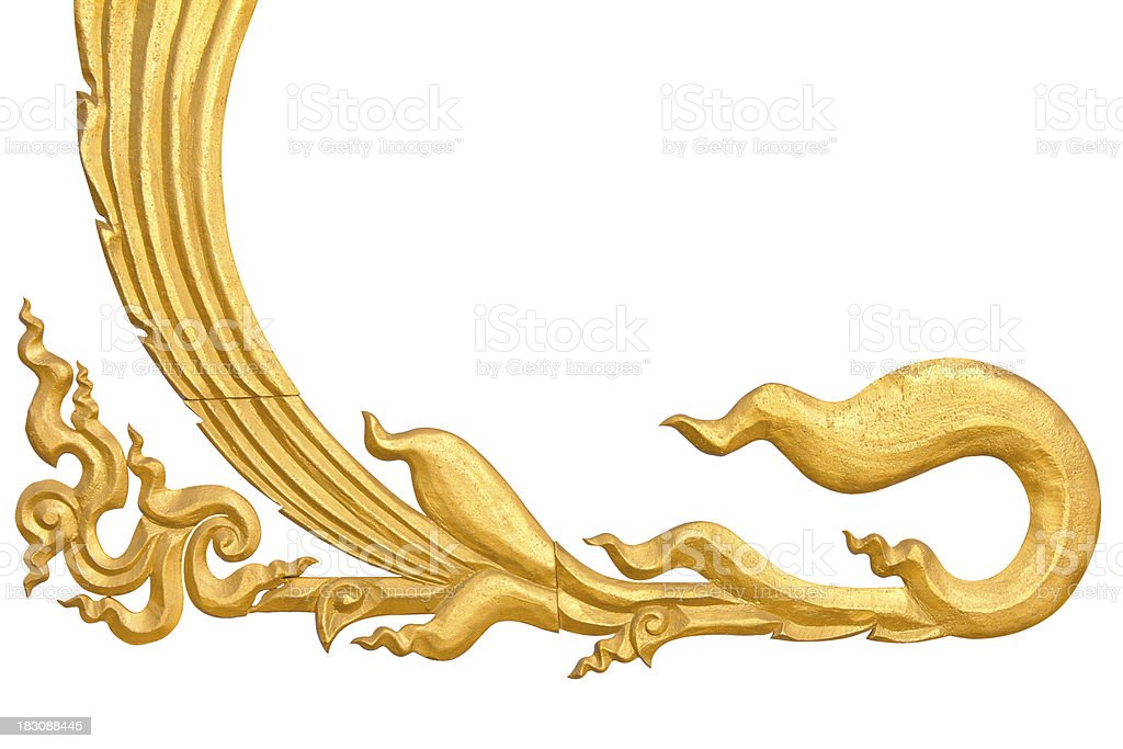 Isolate pattern Thailand gold royalty-free stock photo
