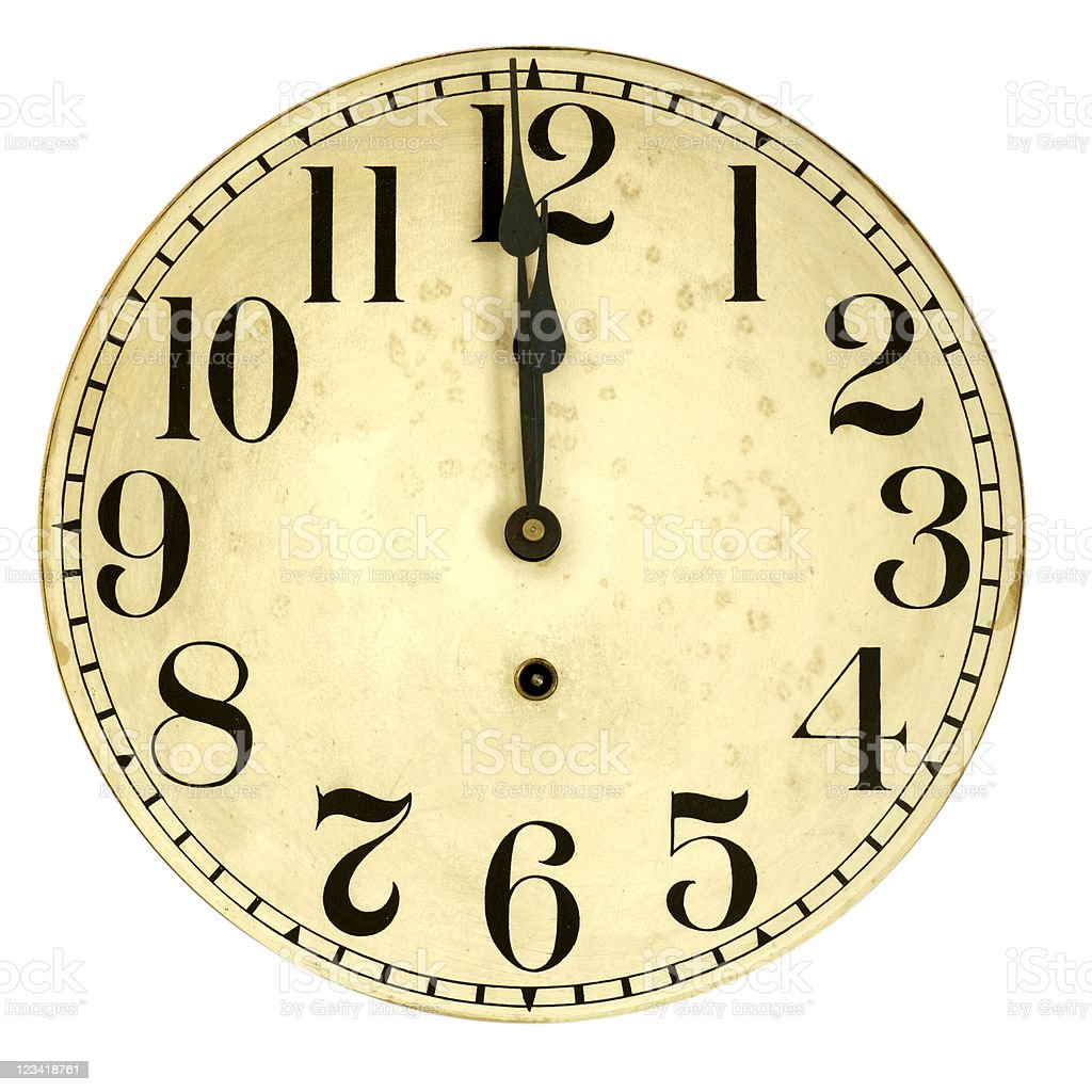 Isolated 100 Year Old Clock Face Stock Photo Amp More