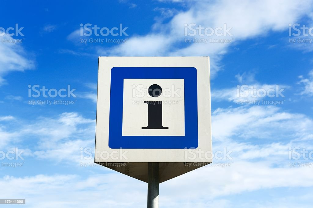 Isolated abstract i box on sunny midday stock photo