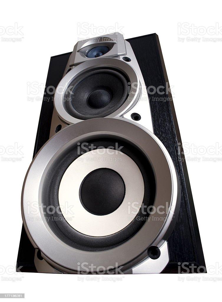 isolated acoustic electronics royalty-free stock photo