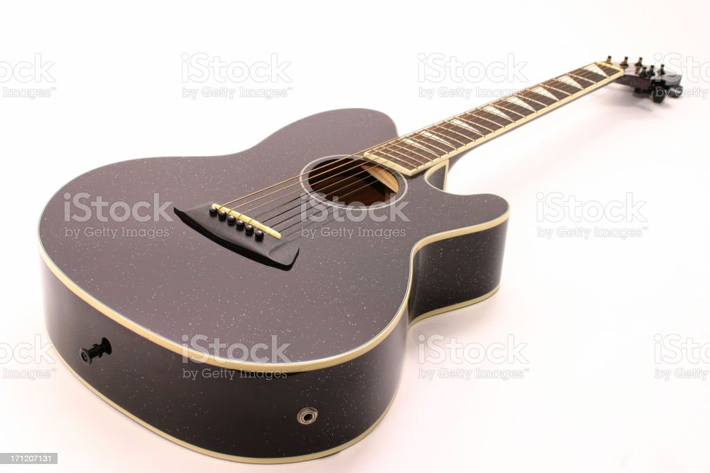 Isolated Acoustic Guitar royalty-free stock photo