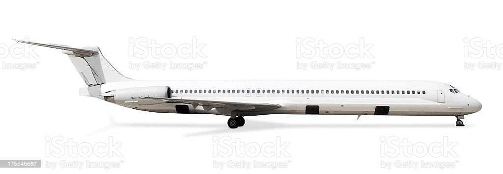 Isolated Airplane stock photo