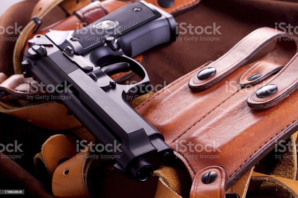 isolated airsoft gun royalty-free stock photo