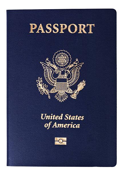 Aislado pasaporte estadounidense - foto de stock