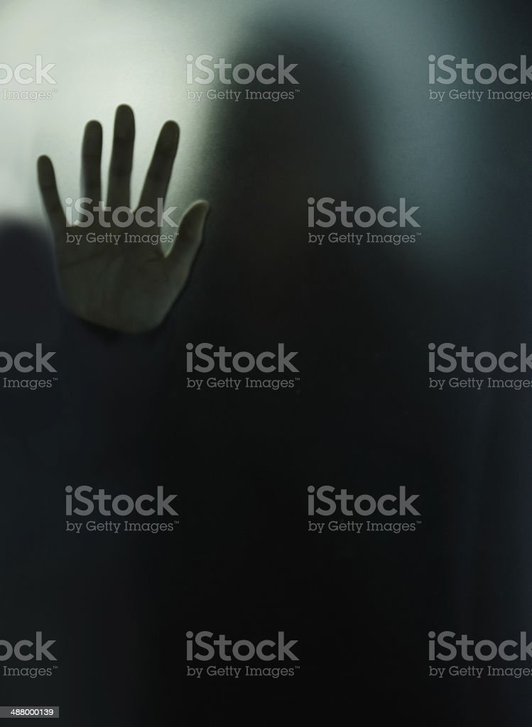 Isolated and doomed stock photo