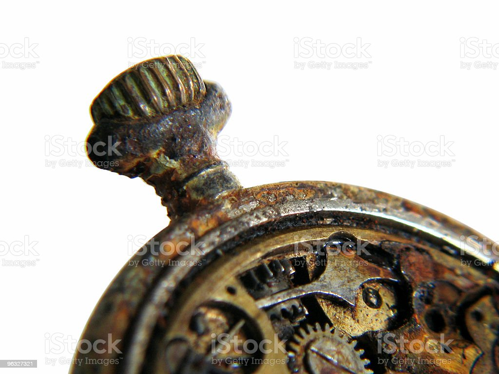 Isolated antique watch royalty-free stock photo