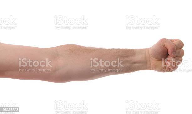 Isolated Arm With Fist Stockfoto en meer beelden van Duim
