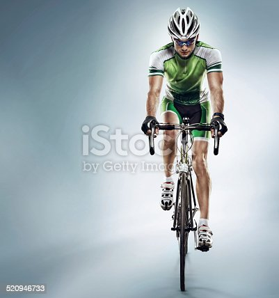 istock Isolated athlete cyclists 520946733