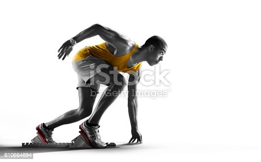istock Isolated Athlete runner 610664694