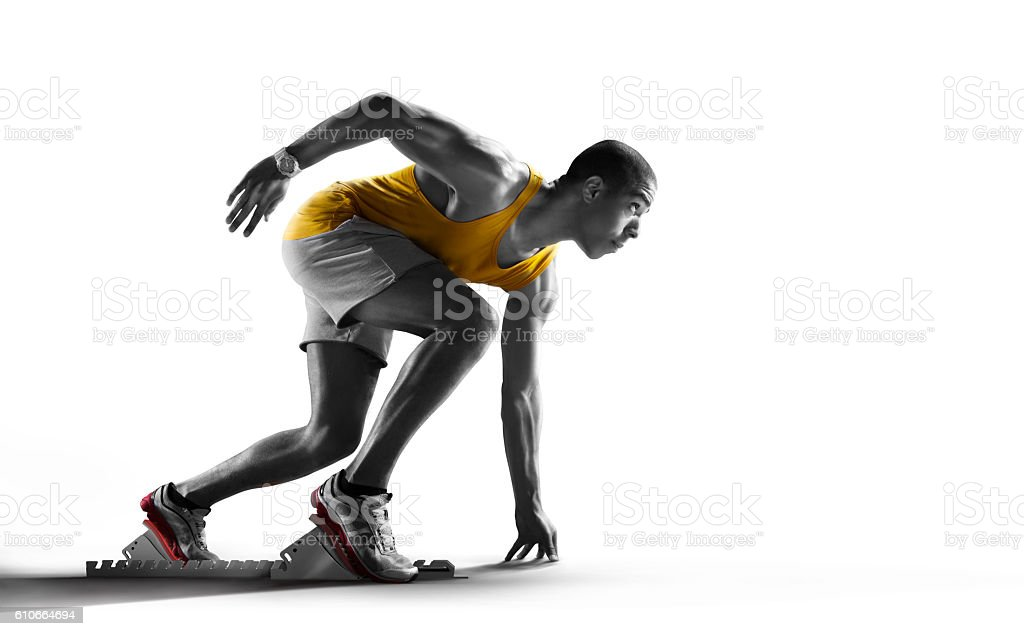 Isolated Athlete runner stock photo