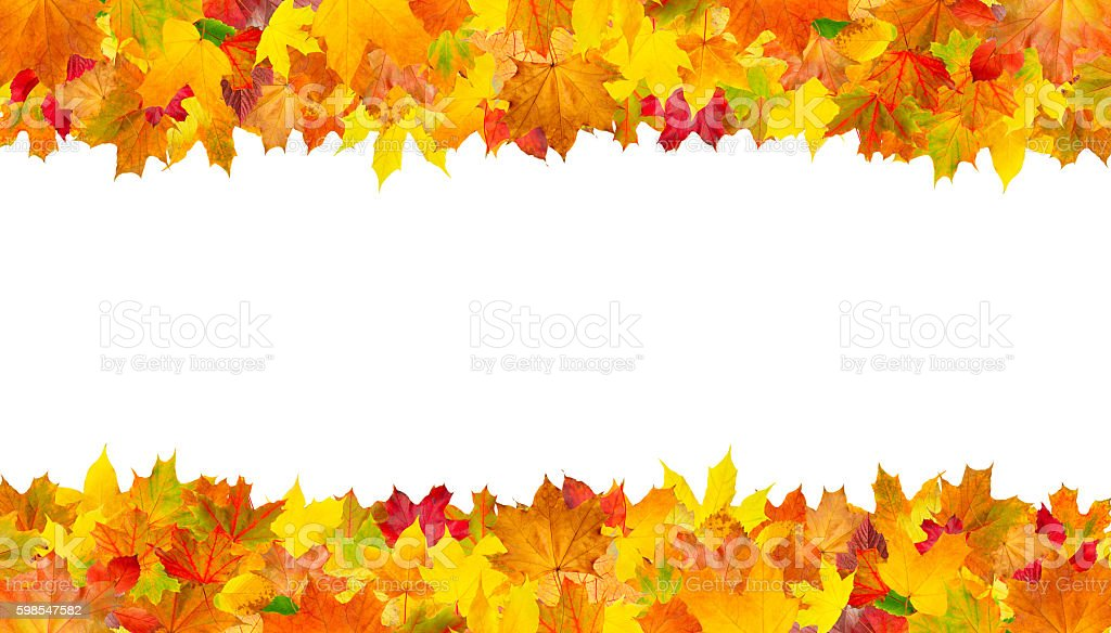 Isolated autumn leaves frame photo libre de droits