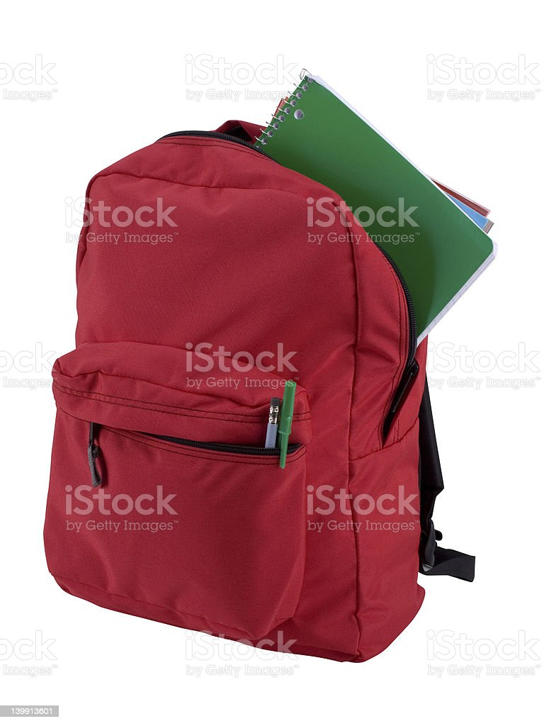 Isolated Backpack royalty-free stock photo