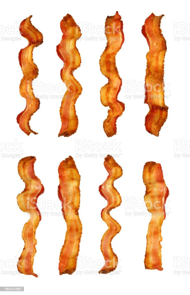 Isolated Bacon Collection royalty-free stock photo