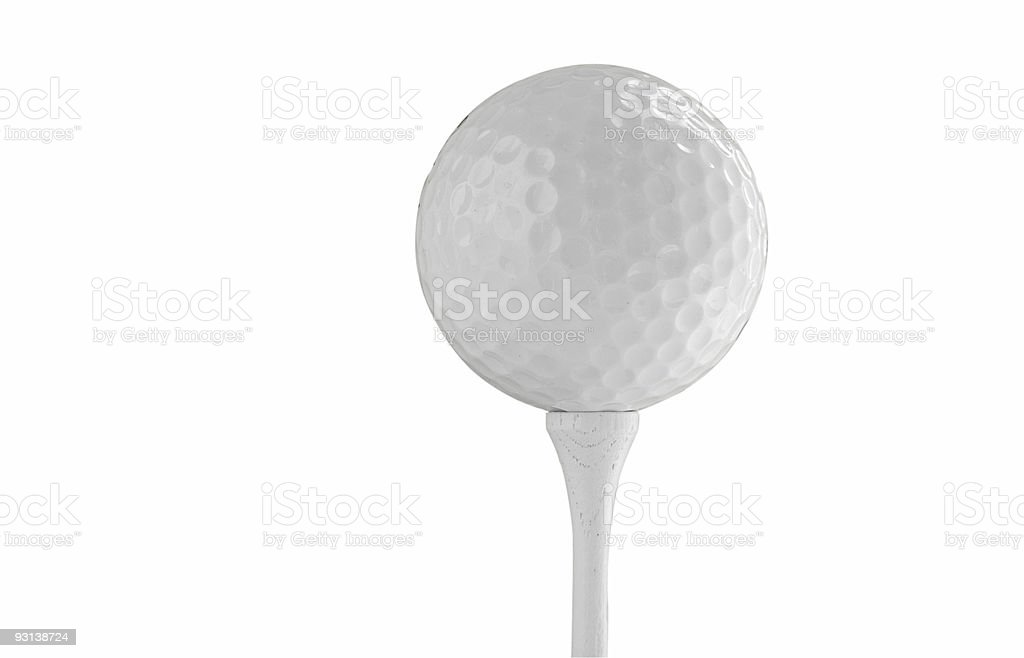 Isolated ball and tee royalty-free stock photo